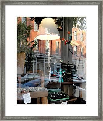 Retro Reflection Framed Print by Mary Beth Landis