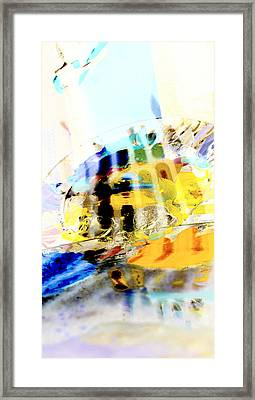 Framed Print featuring the digital art Retro Reflections by Christine Ricker Brandt