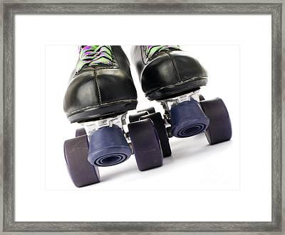 Retro Roller Skates Framed Print by Jose Elias - Sofia Pereira