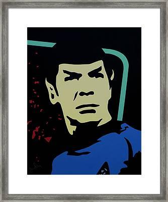 Retro Spock Framed Print by Ian  King