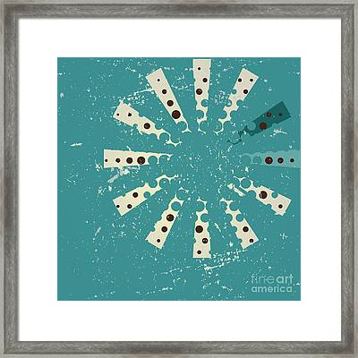 Retro Style Abstract Background Design Framed Print