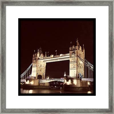 Retro Tower Bridge Framed Print