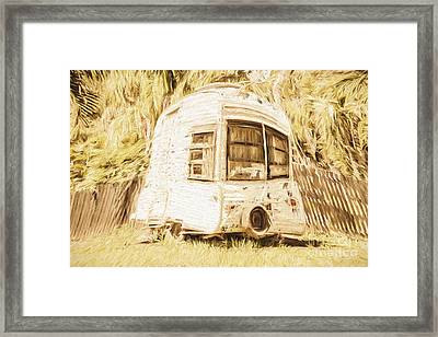 Retrod The Comic Caravan Framed Print