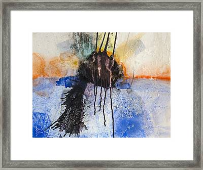 Framed Print featuring the painting Retrovision by Ron Richard Baviello