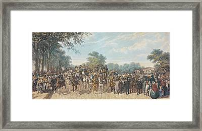 Return From The Derby, 1862 Framed Print