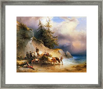 Return From The Mountain Pasture Framed Print