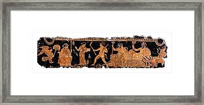 Return Of Hephaistos Framed Print by Steve Bogdanoff