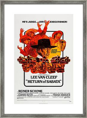 Return Of Sabata, Aka E Tornato Framed Print by Everett