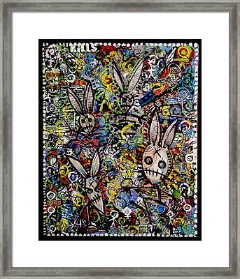 Return Of The Bunny Men        Framed Print by Josh Brown