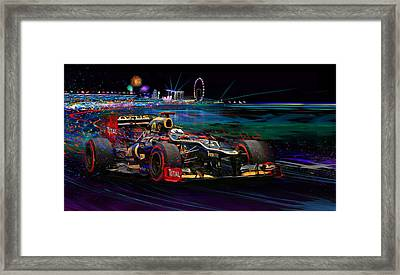 Return Of The Fin Framed Print by Alan Greene