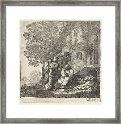 Return Of The Holy Family From Egypt, Moyses Van Wtenbrouck Framed Print by Moyses Van Wtenbrouck And Matheus Moysesz. Van Wtenbrouck