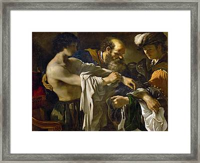 Return Of The Prodigal Son Framed Print by Guercino