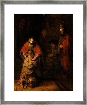 Return Of The Prodigal Son  Framed Print by Rembrandt van Rijn