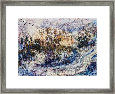Framed Print featuring the painting Return Of Ulysses by Ron Richard Baviello