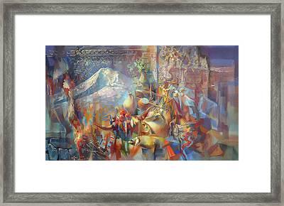 Return To Ararat Framed Print by Meruzhan Khachatryan