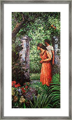 Return To Eden Partial View Framed Print by Sandra Bryant