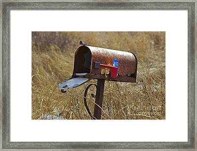 Return To Sender Framed Print