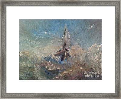 Return To Shores Framed Print by Isabella F Abbie Shores FRSA