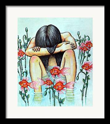 Psychological Defects Digital Art Framed Prints