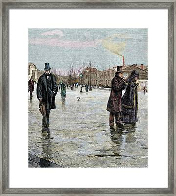 Returning From A Funeral Framed Print by Prisma Archivo