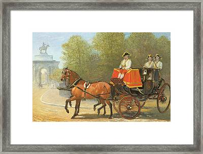 Returning From Her Majestys Drawing Room Framed Print by Alfred Corbould