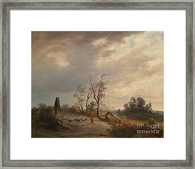 Returning Home Before An Approaching Storm Framed Print