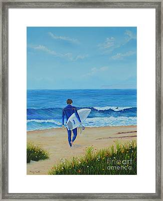 Returning To The Waves Framed Print