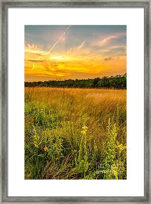 Retzer Prairie Sunset Framed Print by Andrew Slater