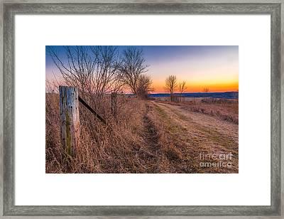 Retzer Sunset Path Framed Print by Andrew Slater