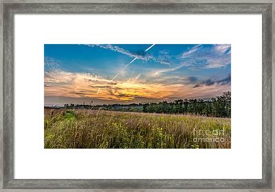 Retzer Sunset Stretch Framed Print by Andrew Slater