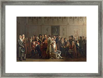 Reunion Of Artists In The Studio Of Isabey, 1798 Oil On Canvas Framed Print