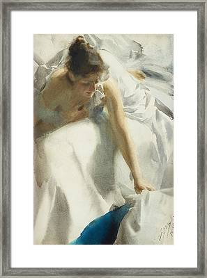 Reveil Framed Print by Anders Zorn