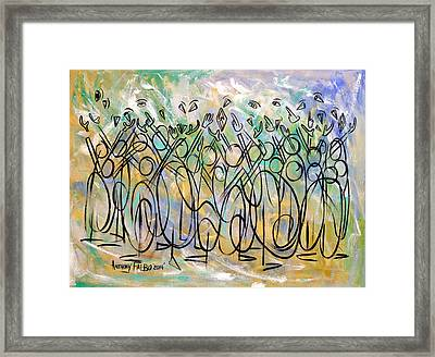 Revelation 1-7 Look He's Coming With The Clouds Framed Print by Anthony Falbo