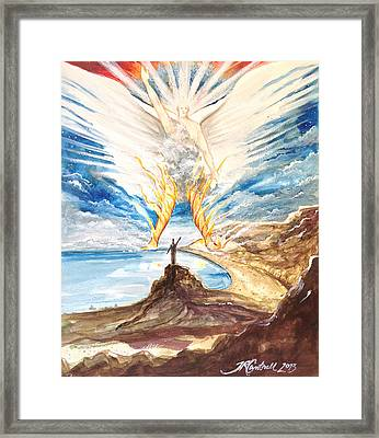 Revelation 10 Angel Framed Print by Ron Cantrell