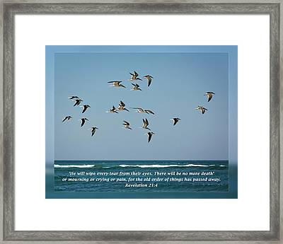 Revelation 21 4 Framed Print by Dawn Currie