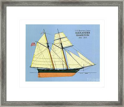 Revenue Cutter Alexander Hamilton Framed Print by Jerry McElroy - Public Domain Image