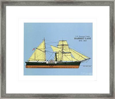Revenue Cutter Harriet Lane Framed Print