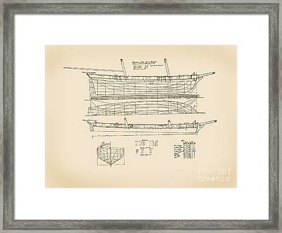 Revenue Cutter James Madison Framed Print by Jerry McElroy - Public Domain Image