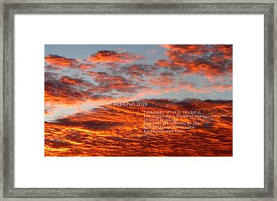 Reverence For Our Lord Framed Print by David  Norman