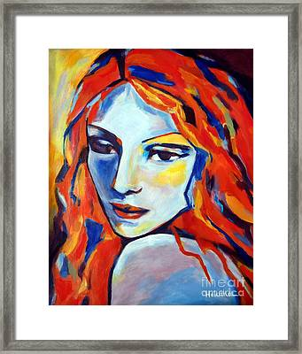 Framed Print featuring the painting Reverie by Helena Wierzbicki