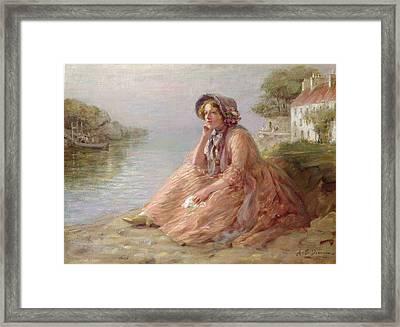Reverie Oil On Canvas Framed Print