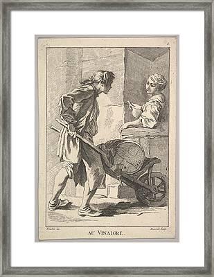 Reverse Copy Of Au Vinaigre Vinegar Framed Print