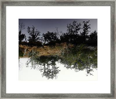 Reverse Reflection On A Crab Fishermans Canal Framed Print