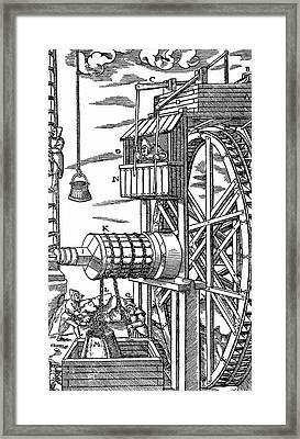 Reversible Hoist For Raising Buckets Framed Print by Universal History Archive/uig