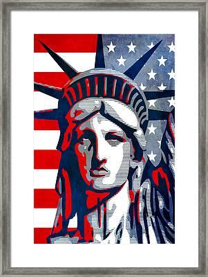 Reversing Liberty 1 Framed Print