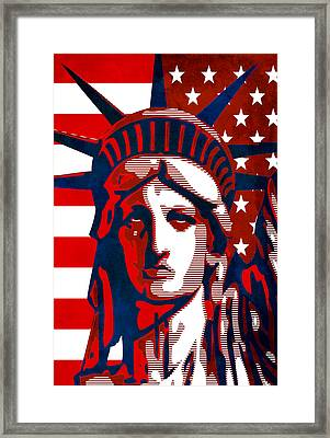 Reversing Liberty 2 Framed Print by Angelina Vick