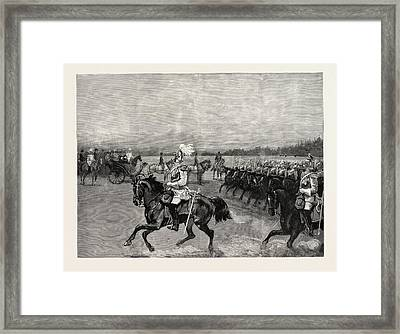 Review Of The Garde Du Corps Before The Queen Framed Print by German School