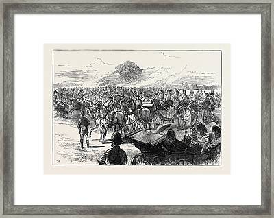 Review Of The Household Brigade By Queen Victoria In Bushey Framed Print