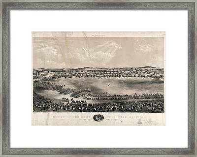 Review Of The Mass. Volunteer Militia, At Concord Framed Print