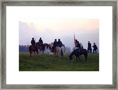 Reviewing The Troops - Perryville Ky  Framed Print by Thia Stover